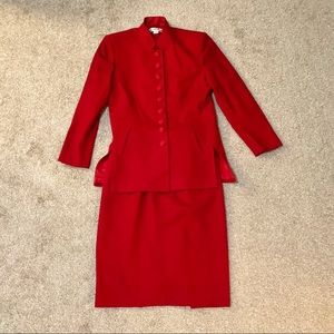 Christian Dior Red Suit
